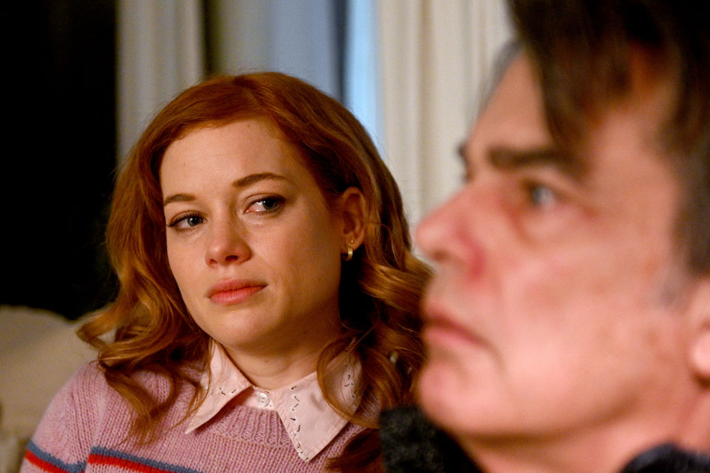 Jane Levy and Peter Gallagher | Sergei Bachlakov/NBC/NBCU Photo Bank via Getty Images