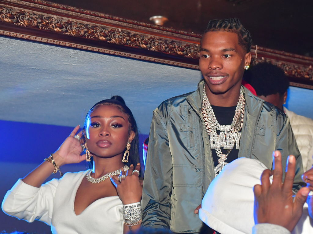 Jayda Cheaves and Lil Baby at a party in October 2019