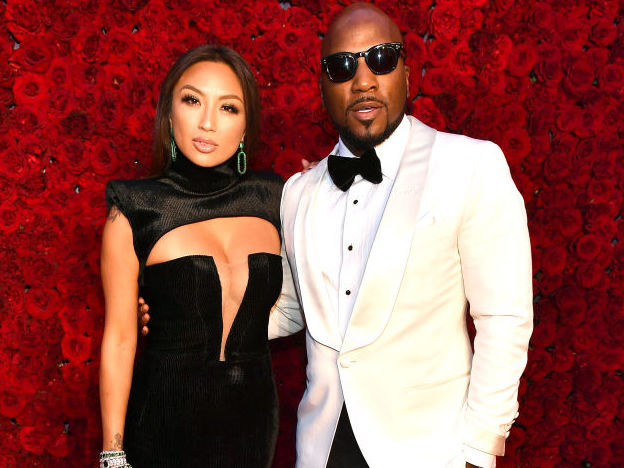 Jeannie Mai and Jeezy on the red carpet at an event in October 2019