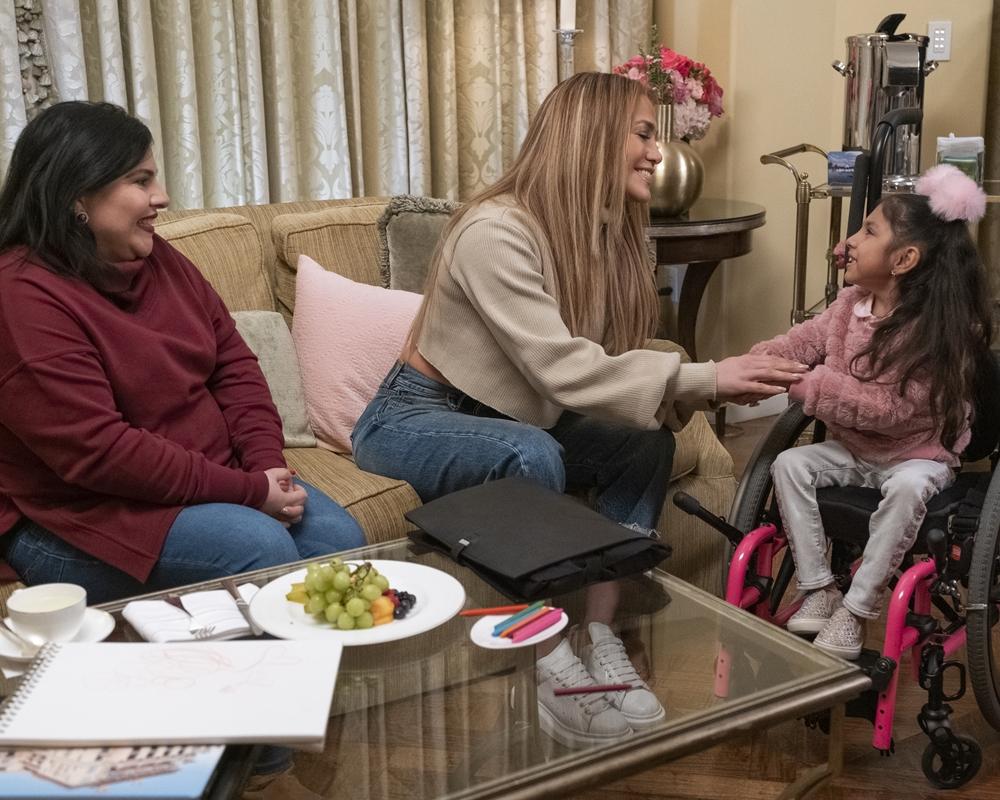 Jennifer Lopez with Rosalia and Zoe