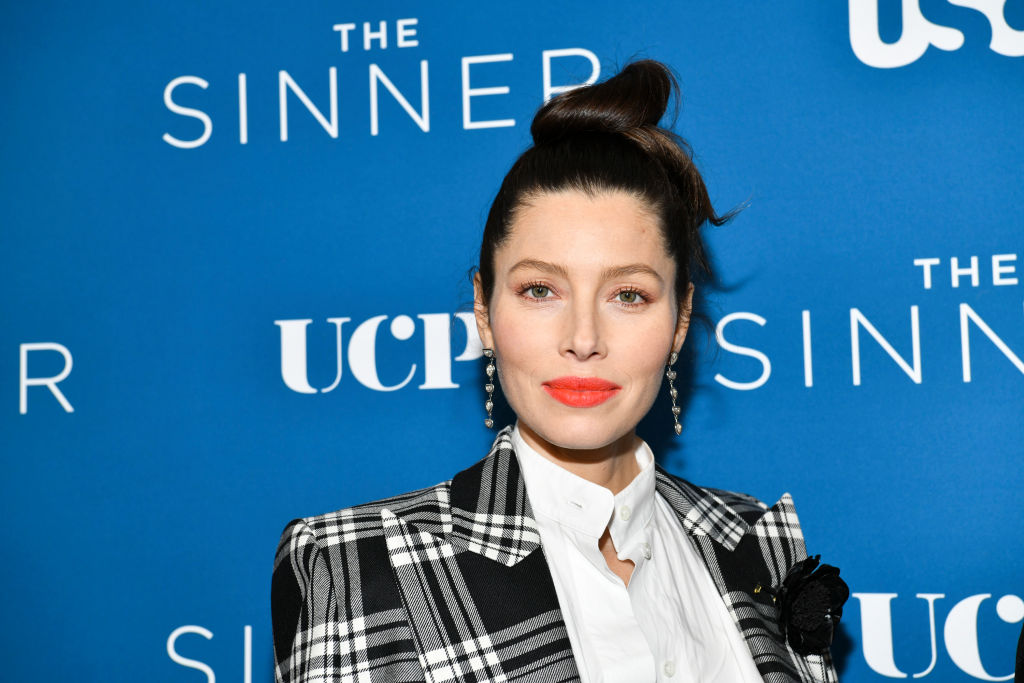 Jessica Biel on the red carpet at an event in February 2020 in West Hollywood, California