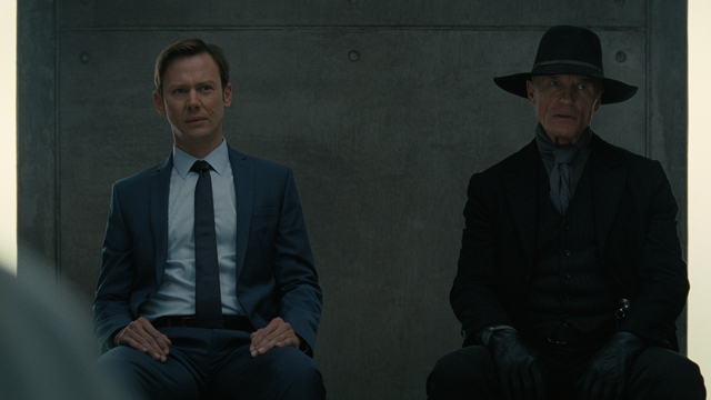 Jimmi Simpson and Ed Harris in 'Westworld'
