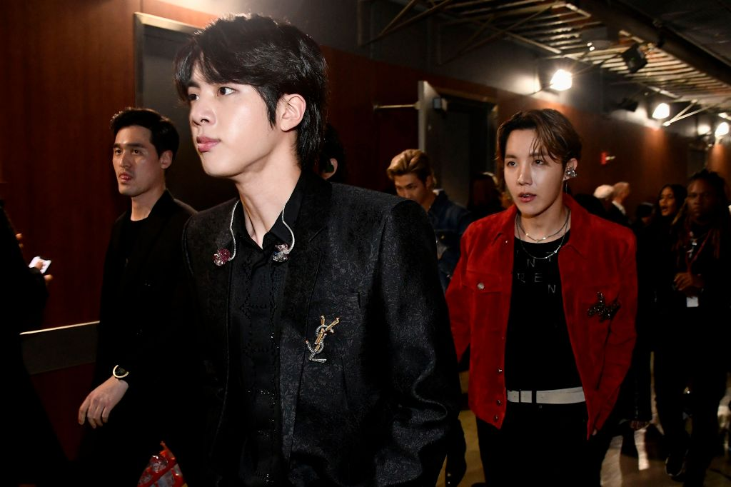 Jin and J-Hope  of BTS attend the 62nd Annual GRAMMY Awards
