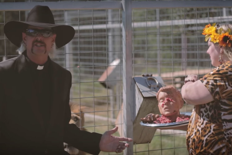 Joe Exotic priest outfit