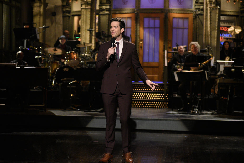 John Mulaney during the monologue on Saturday, February 29, 2020