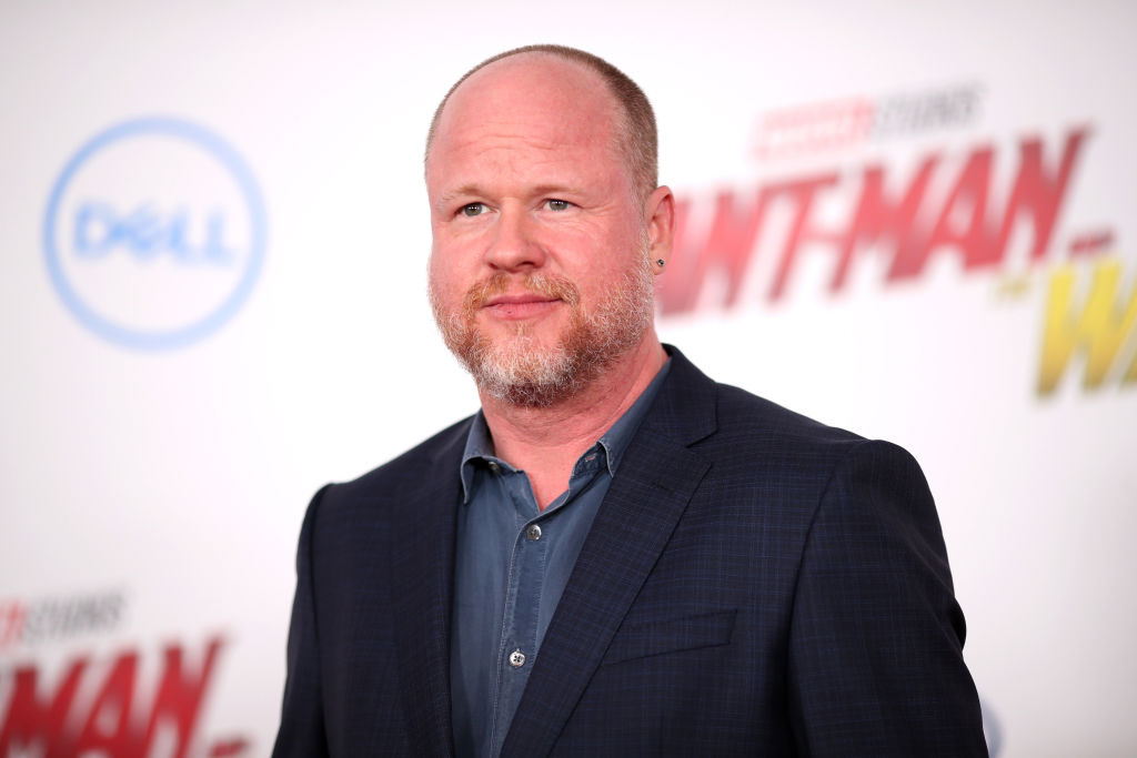 Joss Whedon in a navy jacket