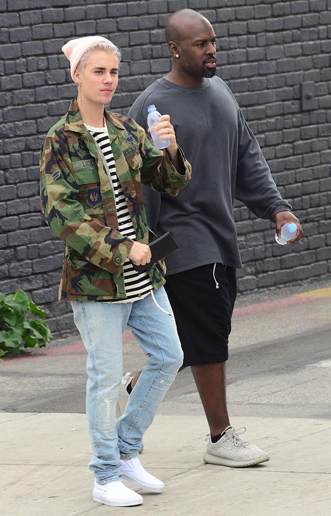 Justin Bieber and Corey Gamble