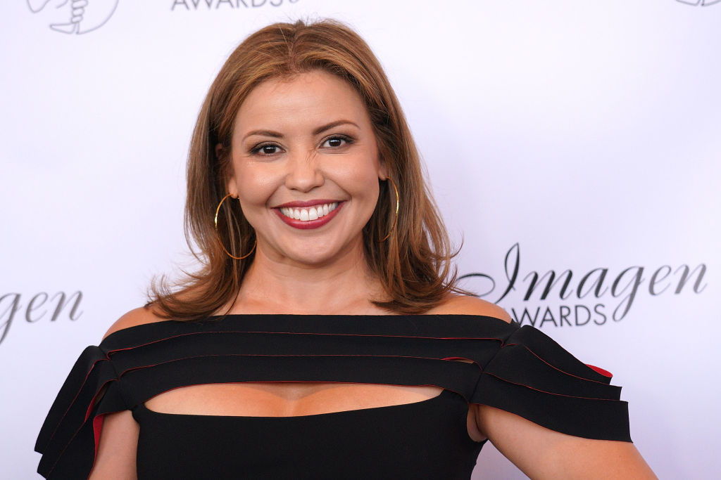 Justina Machado on the red carpet at an award show in August 2018