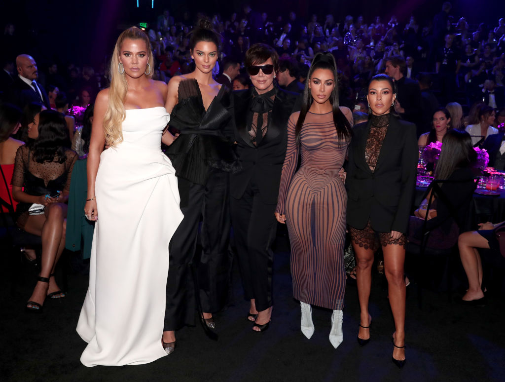 Khloe Kardashian, Kendall Jenner, Kris Jenner, Kim Kardashian, and Kourtney Kardashian during the 2018 E! People's Choice Awards