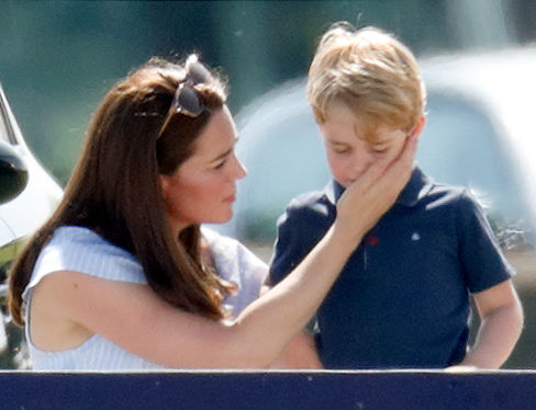 Prince George and Kate Middleton, 2018