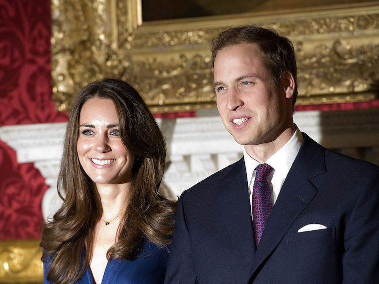 Prince William and Kate Middleton announce their engagement in 2010