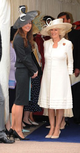 Kate Middleton and Camilla Parker Bowles, 2008
