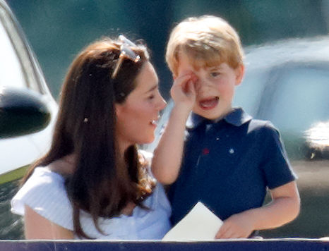 Kate Middleton and Prince George at a polo match