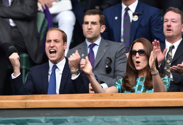 Kate Middleton and Prince William at Wimbledon, 2014