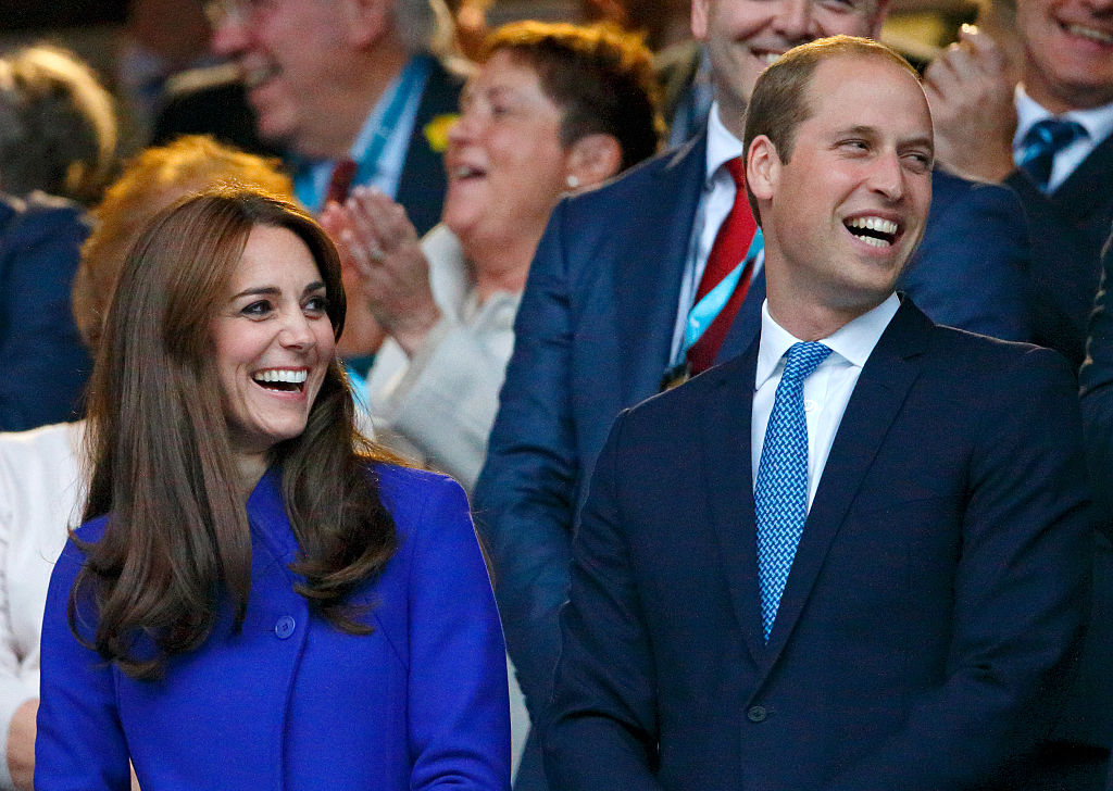 Kate Middleton and Prince William attend the Opening Ceremony and first match of the Rugby World Cup 2015