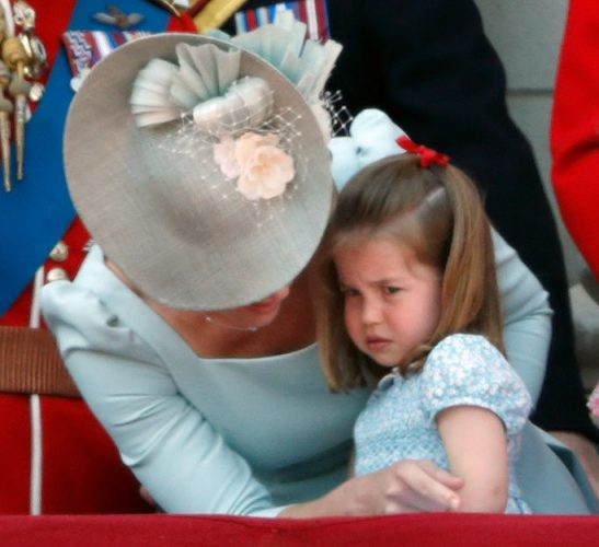 Princess Charlotte and Kate Middleton at Trooping the Colour, 2018