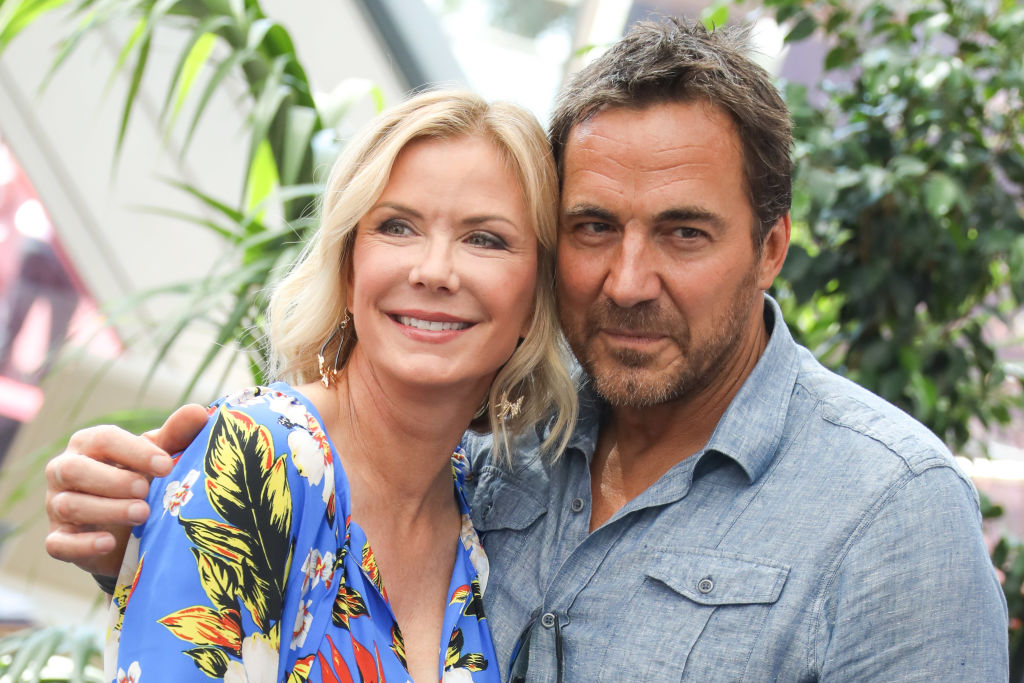 Katherine Kelly Lang and Thorsten Kaye smiling