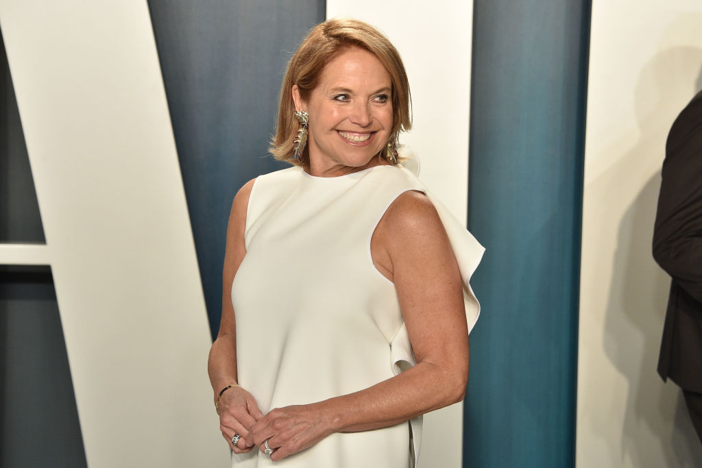 Katie Couric attends the 2020 Vanity Fair Oscar Party