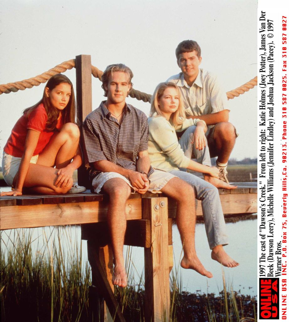 Dawson's Creek characters Katie Holmes, James Van Der Beek, Michelle Williams, and Joshua Jackson
