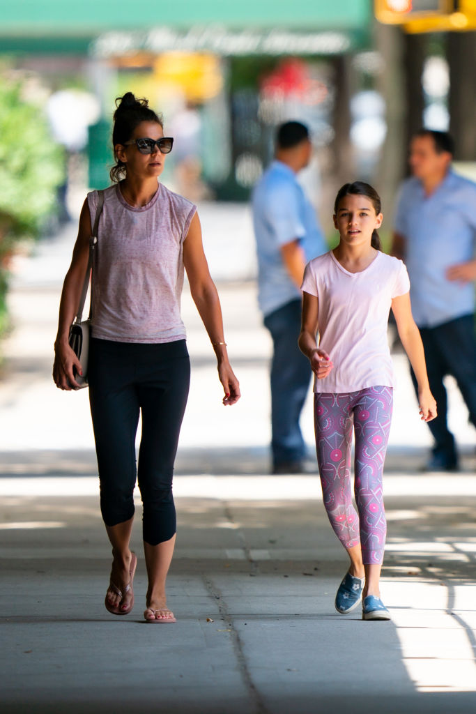 Katie Holmes and Suri Cruise in July 2019 in New York City