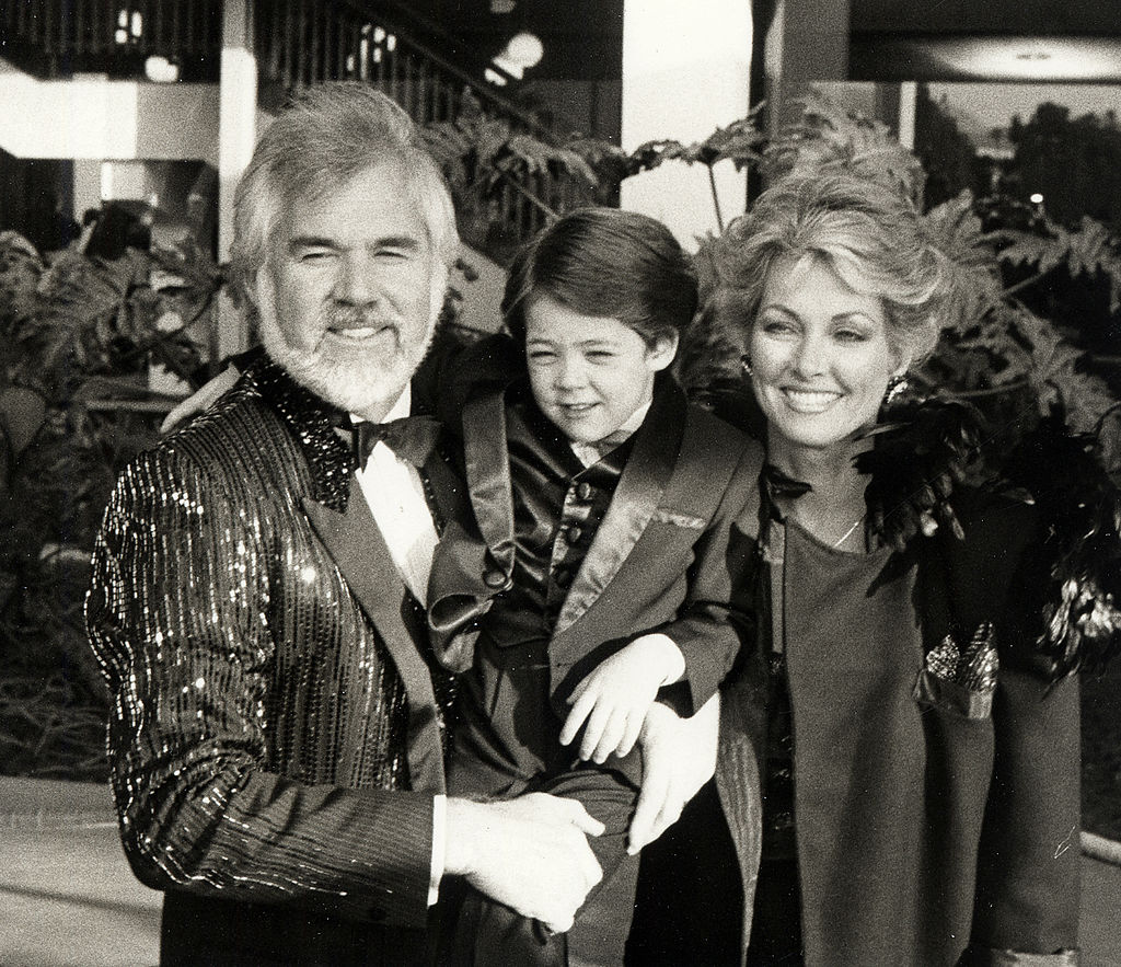 Kenny Rogers with his son and wife Marianne Gordon    Ron Galella/Ron Galella Collection via Getty Images