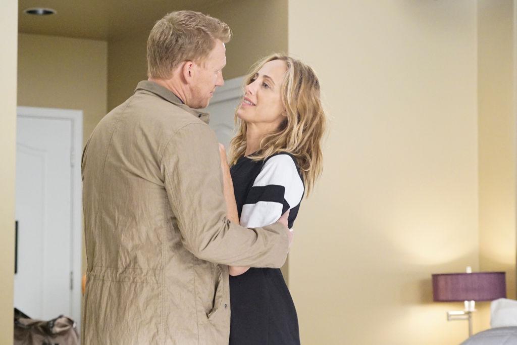 Kevin McKidd as Owen Hunt and Kim Raver as Teddy Altman on 'Grey's Anatomy'