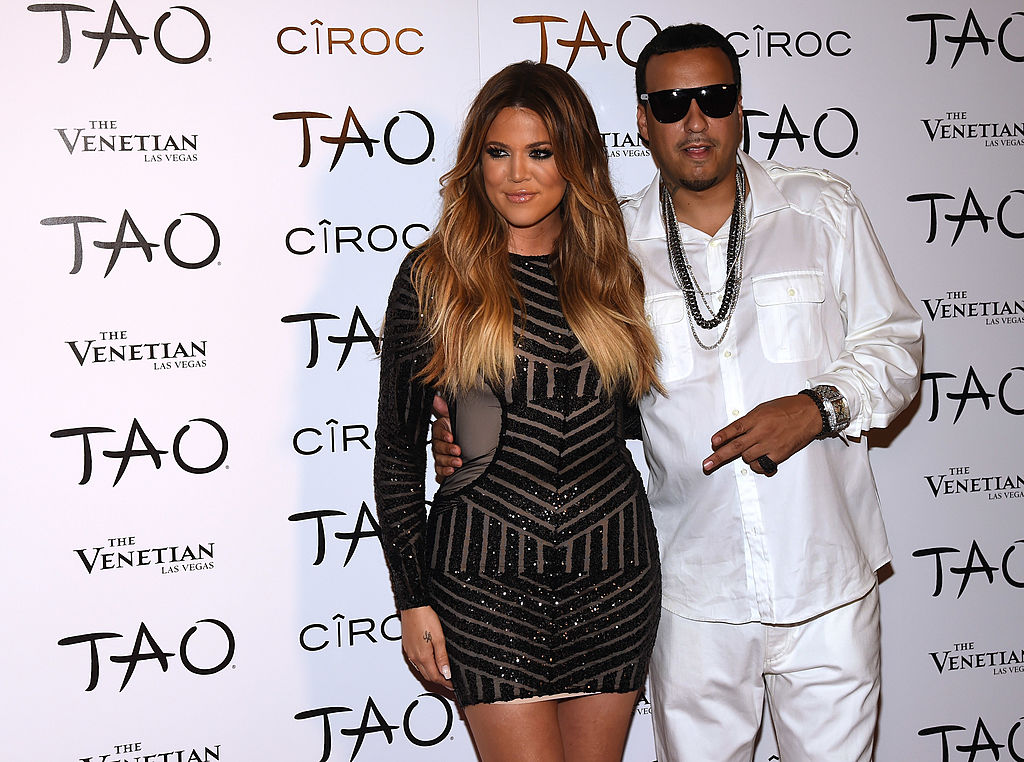 Khloé Kardashian and French Montana at a club in July 2014