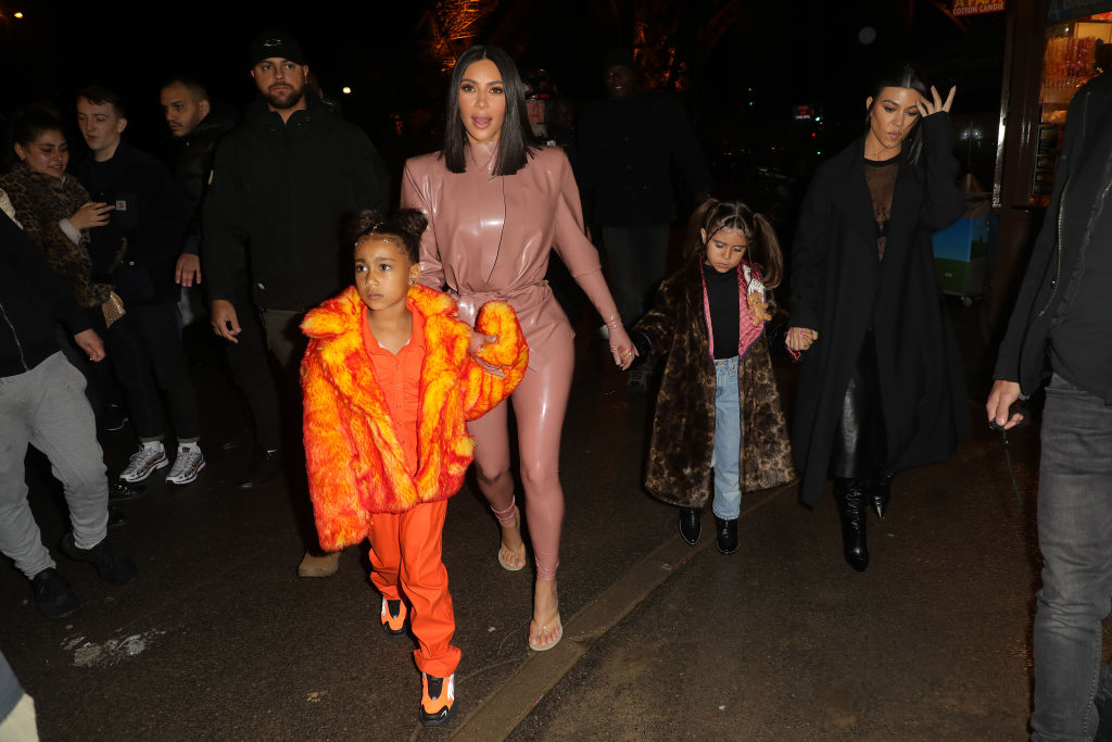 Kim Kardashian West, North West, Penelope Disick and Kourtney Kardashian
