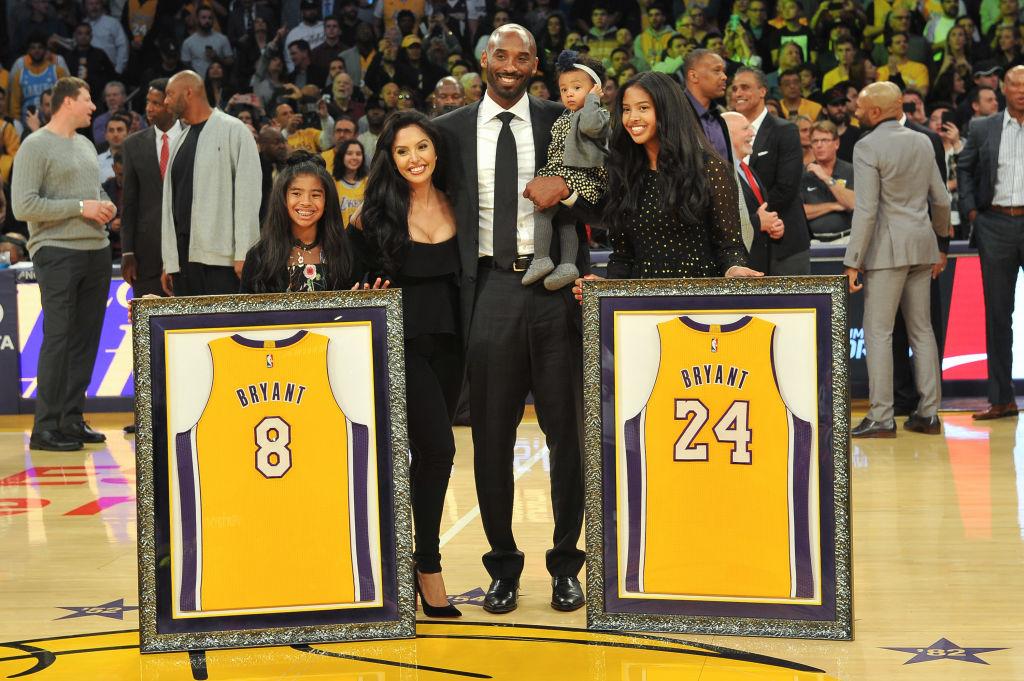 Kobe Bryant, wife Vanessa Bryant and daughters Gianna Maria Onore Bryant, Natalia Diamante Bryant and Bianka Bella Bryant