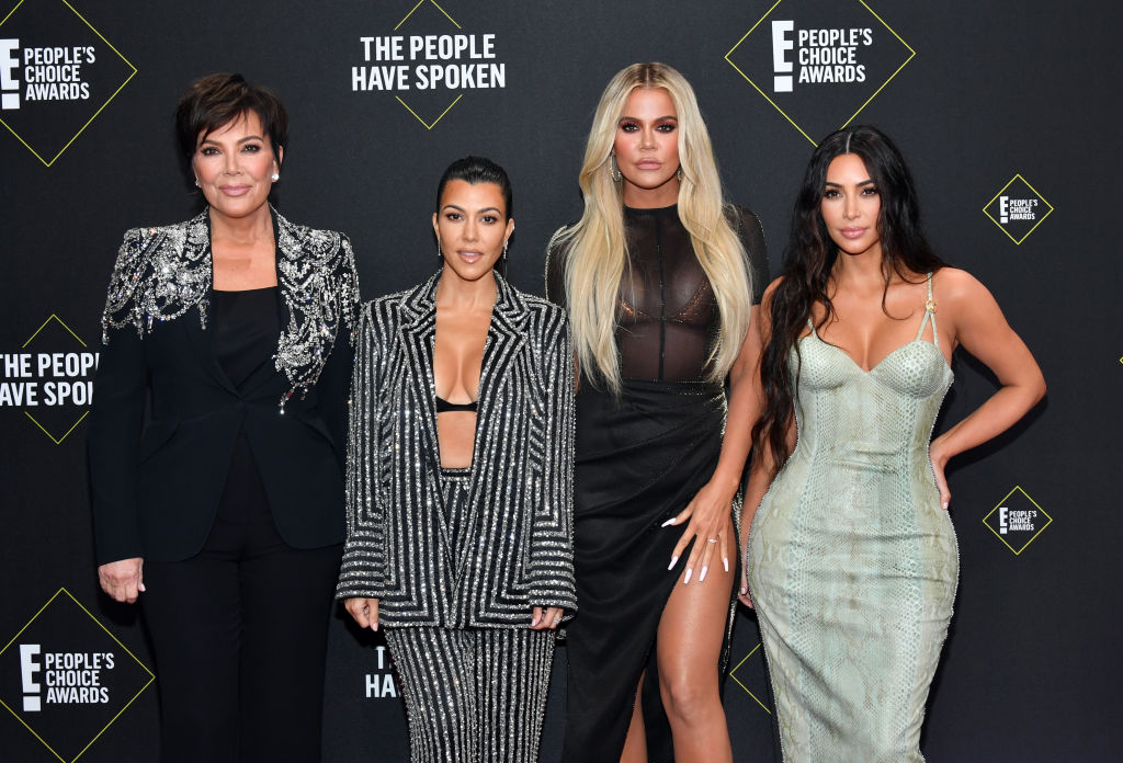 Kris Jenner, Kourtney Kardashian, Khloé Kardashian, and Kim Kardashian West arrive to the 2019 E! People's Choice Awards