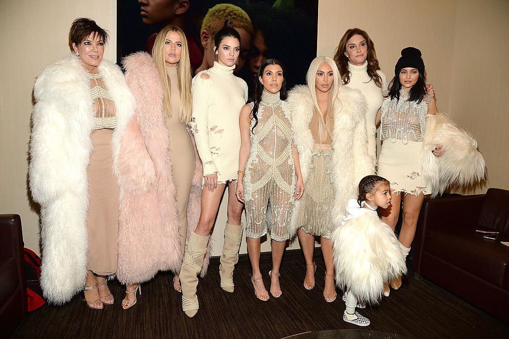 Kris Jenner, Khloé Kardashian, Kendall Jenner, Kourtney Kardashian, Kim Kardashian West, North West, Caitlyn Jenner, and Kylie Jenner kids