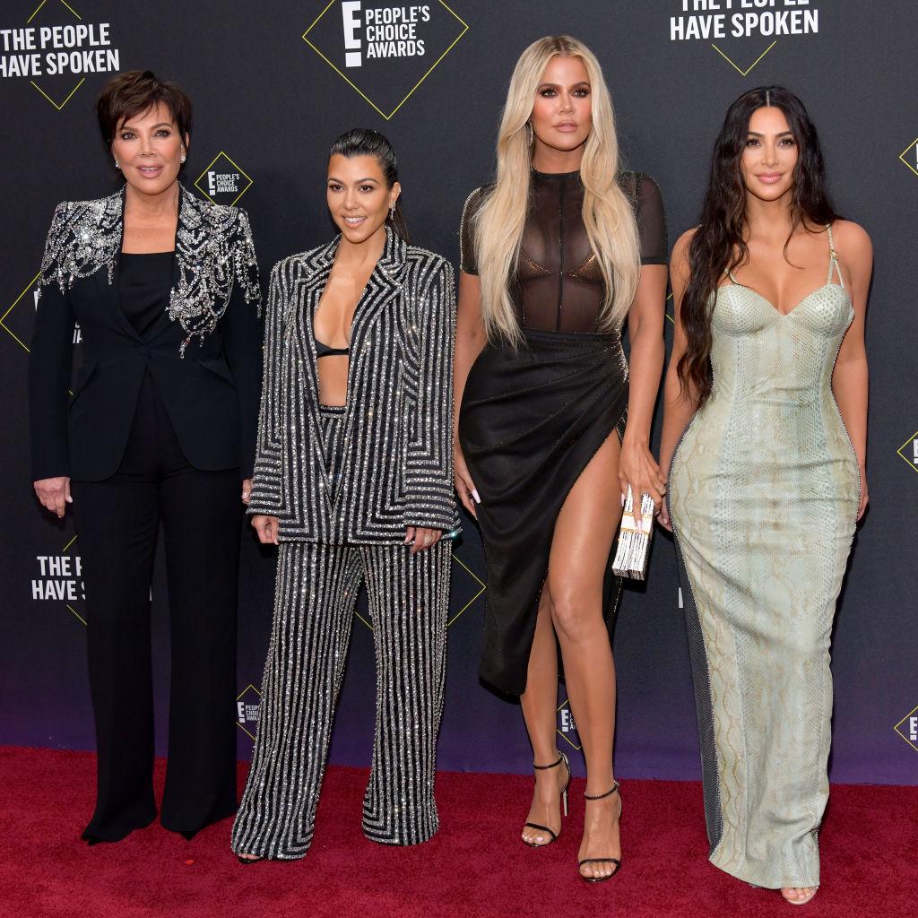 Kris Jenner, Kourtney Kardashian, Khloé Kardashian, and Kim Kardashian attend 2019 E! People's Choice Awards