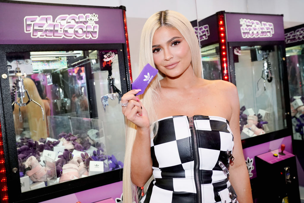 Kylie Jenner attends the Adidas Falcon FW18 Launch: Gas Station Pop-up