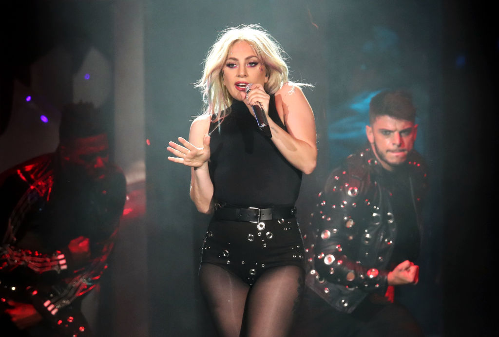 Singer Lady Gaga performs during day 2 of the 2017 Coachella Valley Music & Arts Festival