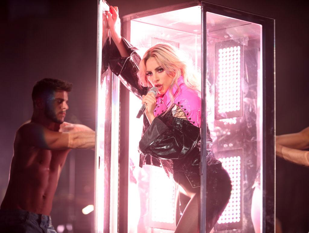 Lady Gaga performs on the Coachella Stage