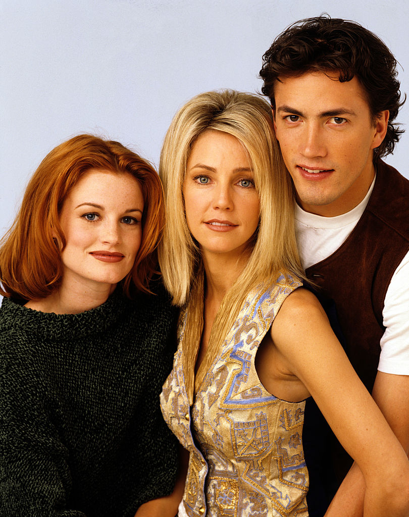 Laura Leighton, Heather Locklear, and Andrew Shue of 'Melrose Place'