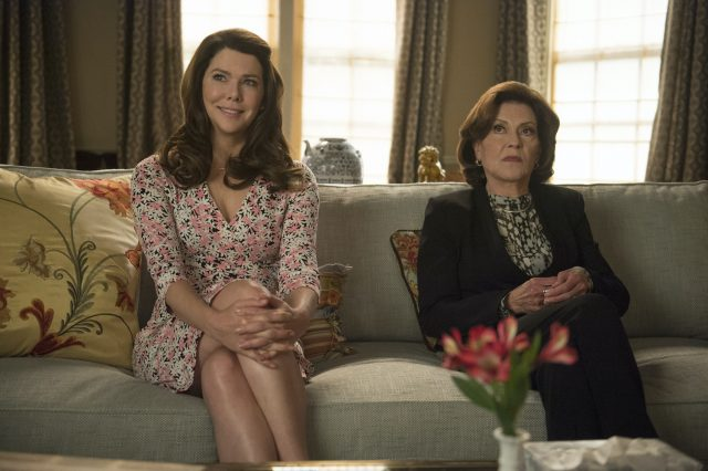 Lauren Graham and Kelly Bishop as Lorelai and Emily Gilmore in 'Gilmore Girls: A Year in the Life'