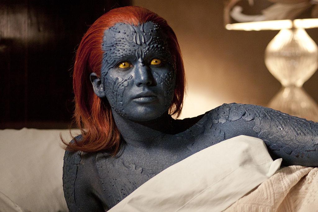 Jennifer Lawrence as Mystique in the X-Men