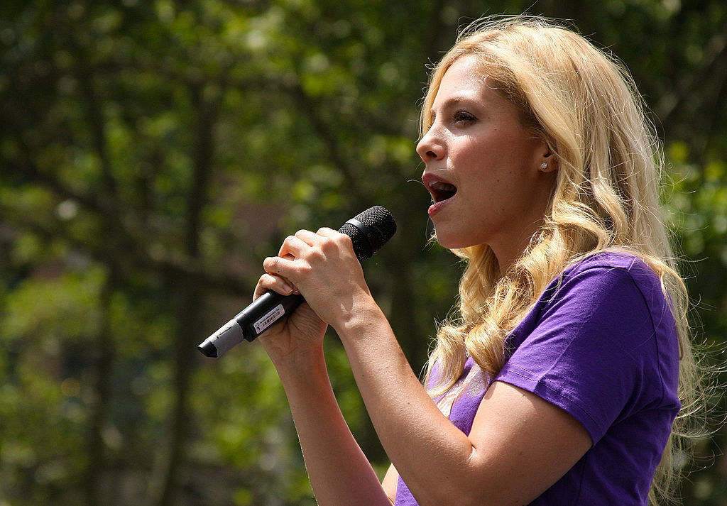 Leigh Ann Larkin from the cast of A Little Night Music performs at 106.7 Lite FM presents Broadway in Bryant Park in New York City back in 2010. | Janette Pellegrini/WireImage