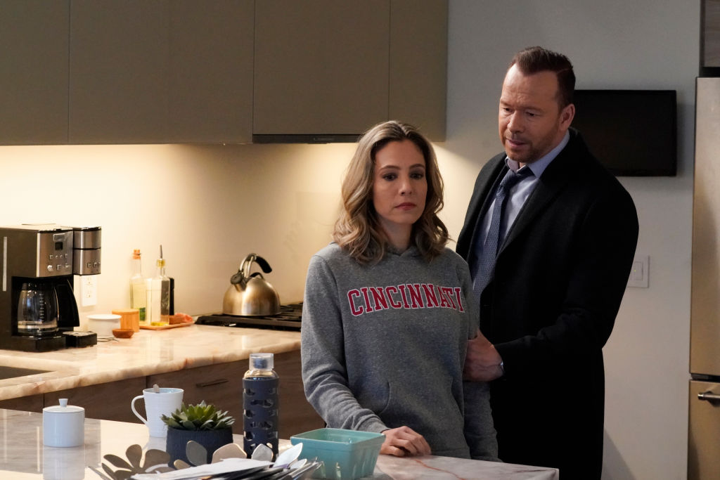 Leigh Ann Larkin as Megan Carson and Donnie Wahlberg as Danny Reagan on Blue Bloods | John Paul Filo/CBS via Getty Images