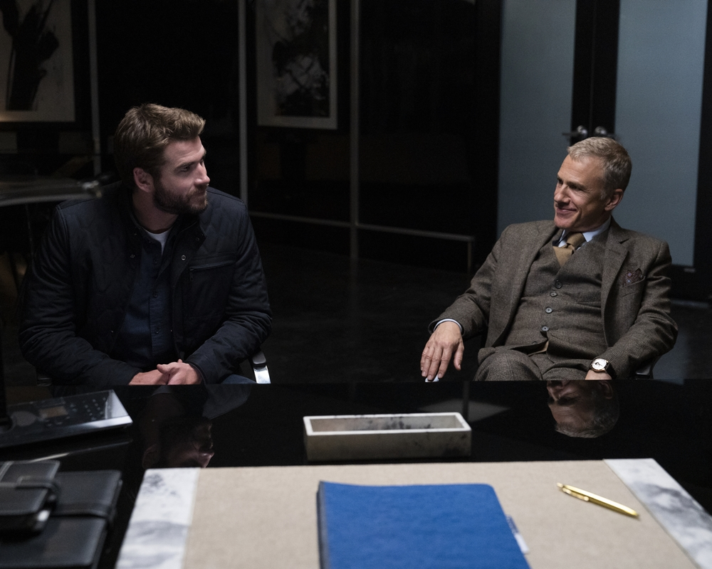Liam Hemsworth and Christoph Waltz