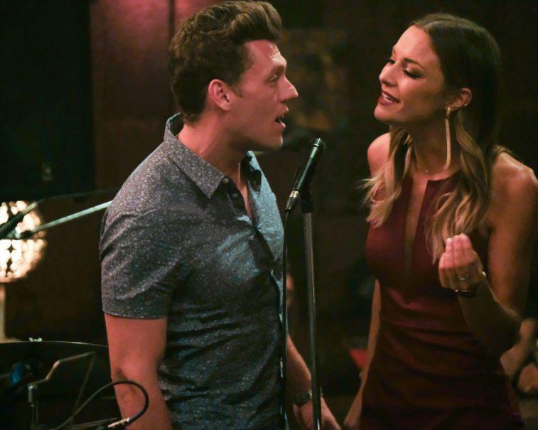 Savannah and Brandon singing together