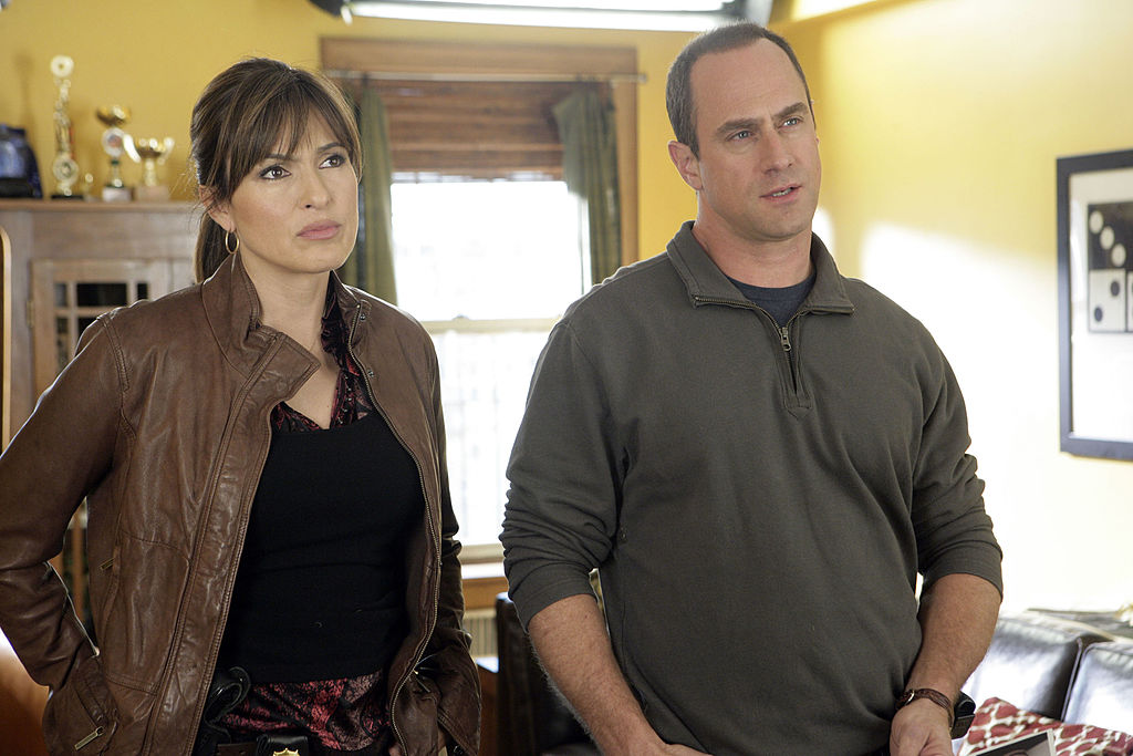 Mariska Hargitay and Christopher Meloni on 'Law & Order: SVU' in 2007
