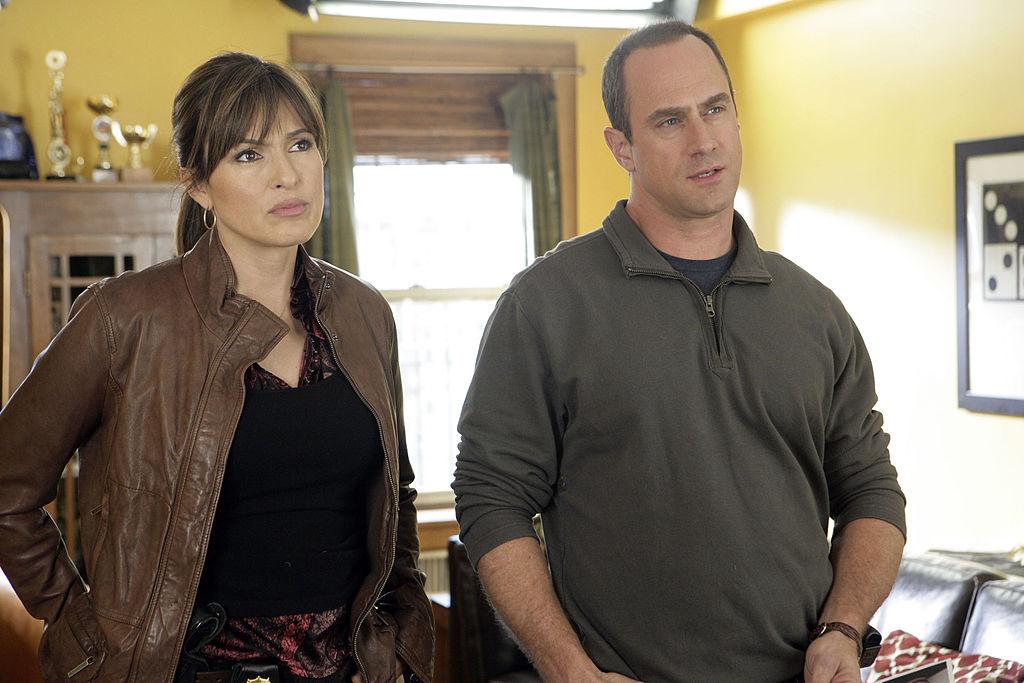 Mariska Hargitay and Christopher Meloni on 'Law & Order: SVU' in 2007