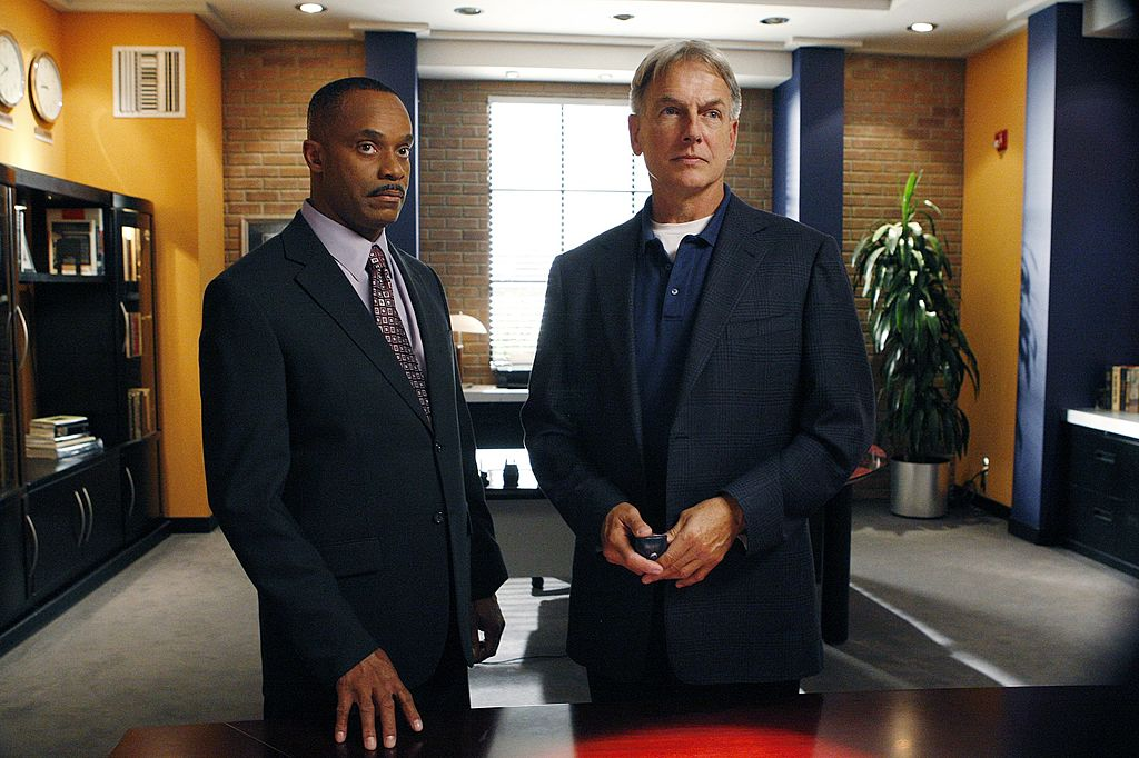 Mark Harmon and Rocky Carroll in NCIS