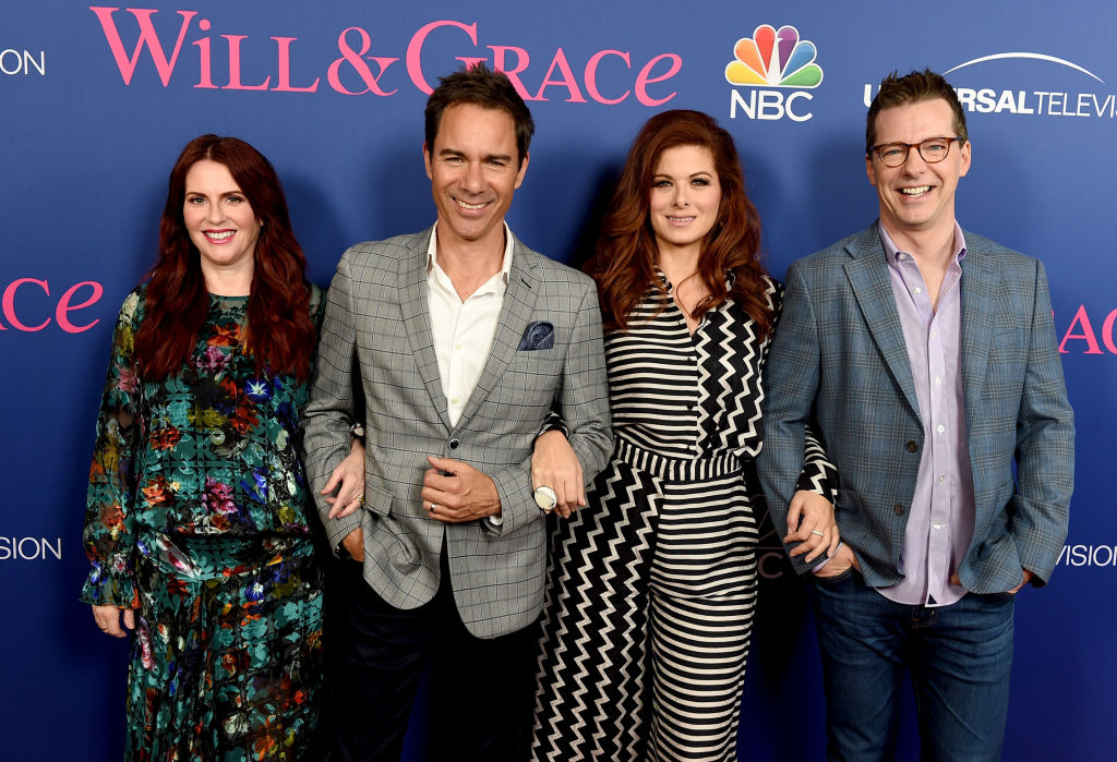 WIll & Grace finale cast Megan Mullally, Eric McCormack, Debra Messing, and Sean Hayes