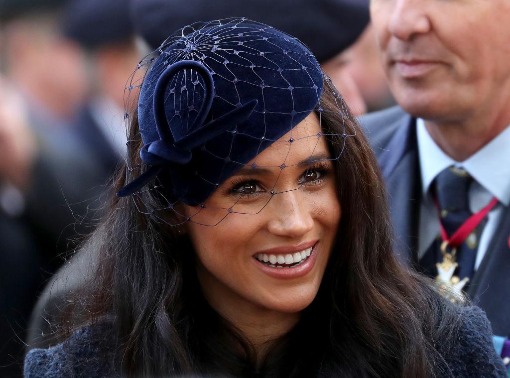 Meghan Markle in navy blue