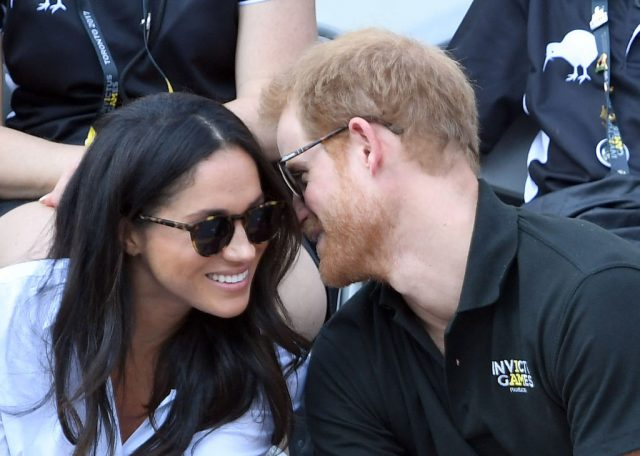 Meghan Markle and Prince Harry at a wheelchair tennis match, 2017 Invictus Games