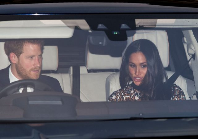 Meghan Markle and Prince Harry attend Christmas lunch at Buckingham Palace, 2017