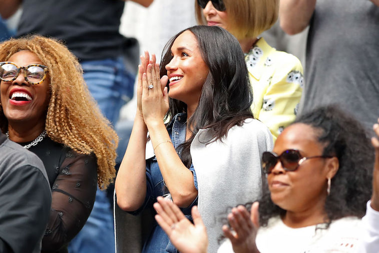 Meghan Markle cheers on Serena Williams at the 2019 U.S. Open